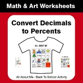 All About Me Math: Convert Decimals to Percents {Back To School}