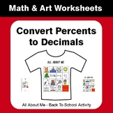 All About Me Math: Convert Percents to Decimals {Back To School}