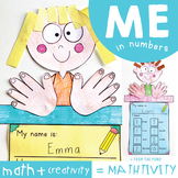 All About Me Math Craft - Me in Numbers