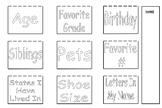 All About Me Math Flip Chart