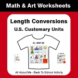 All About Me Math: Length Conversions (U.S. Customary Unit