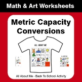 All About Me Math: Metric Capacity Conversions {Back To School}
