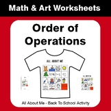 All About Me Math: Order of Operations {Back To School}