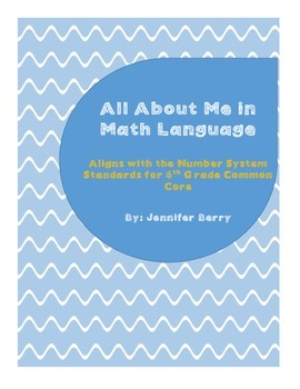 All About Me Math Project (Aligns to the Number System)