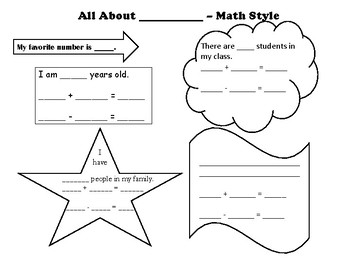 All About Me - Math Style