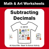 All About Me Math: Subtracting Decimals {Back To School}