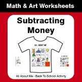 All About Me Math: Subtracting Money {Back To School}