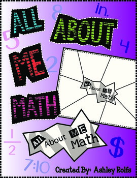 All About Me Math Templates