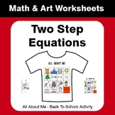 All About Me Math: Two Step Equations {Back To School}