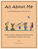 """All About Me"" Math and Literacy Unit - Aligned with Common Core Standards"