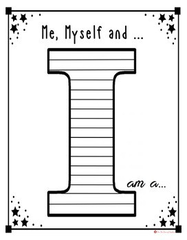 "All About Me ""I"" Templates- Me, Myself and I am"