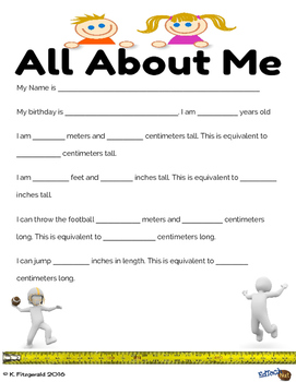 All About Me Measurement