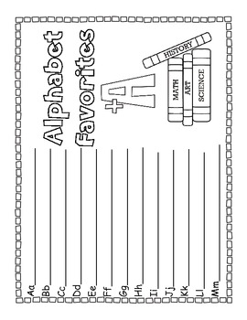 Memory Book ~ Kindergarten