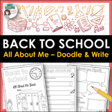 All About Me - Back to School and Get to Know You Activity