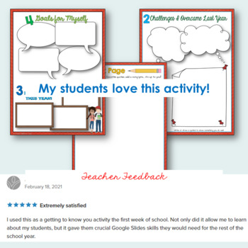 All About Me- Back to School Activity - Digital / Google Drive Version