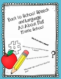 All About Me: Middle School Speech and Language