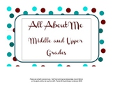 All About Me - Middle and High School