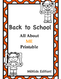 All About Me MilKids Edition FREEBIE