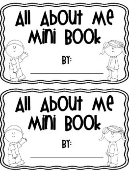 All About Me Mini Book {Back to School}