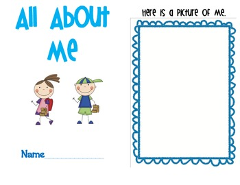 image relating to All About Me Printable Book named All Concerning Me Printable E book