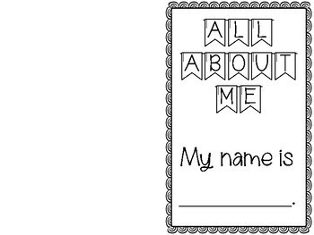 All About Me - Mini Book