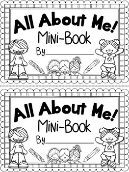 All About Me Mini Book Beginning Of The Year End Of