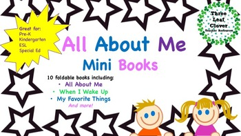 All About Me Mini Books - Perfect for Back to School and First Week of School