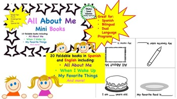 All About Me Mini Books  BUNDLE - English and Spanish - ESL,Bilingual