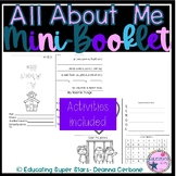 All About Me Mini Foldable Booklet and Activites