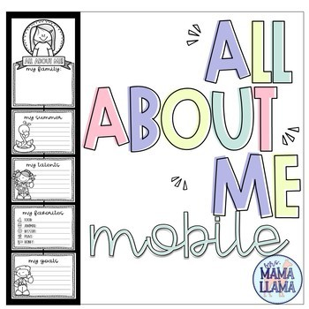 All About Me Mobile for Beginning of Year