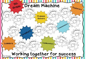 All About Me - Motivational Display Cogs & Activity