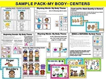 All About Me, My Body, My Feelings, Five Senses, 4 weeks of lesson plans BUNDLE