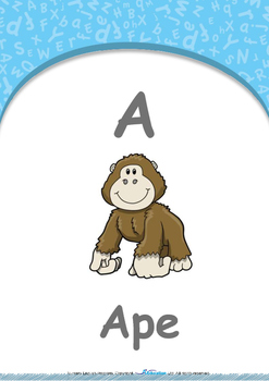 All About Me - My Body : Letter A : Ape - Nursery (2 years old)