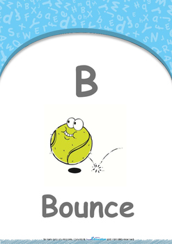 All About Me - My Body : Letter B : Bounce - Nursery (2 years old)
