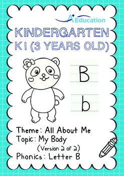 All About Me - My Body (II): Letter B - Kindergarten, K1 (3 years old)