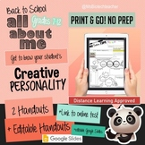 All About Me - My Creative Type - Editable Google Slide -