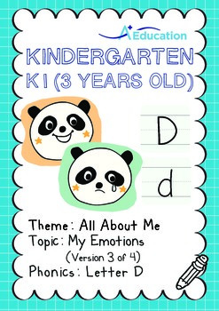 All About Me - My Emotions (III): Letter D - Kindergarten, K1 (3 years old)