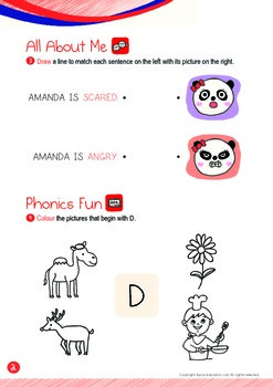 All About Me - My Emotions (IV): Letter D - Kindergarten, K1 (3 years old)