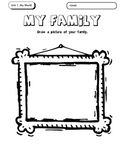 All About Me - My Family Activity