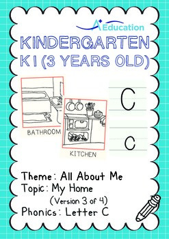 All About Me - My Home (III): Letter C - Kindergarten, K1 (3 years old)
