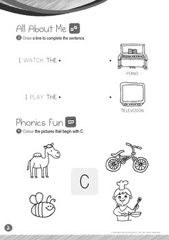 All About Me - My Home (IV): Letter C - Kindergarten, K1 (3 years old)