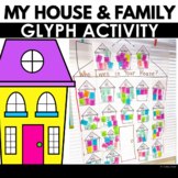 All About Me - My House and Family Glyph for Preschool or