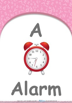 All About Me - My Name : Letter A : Alarm - Pre-Nursery (1 year old)