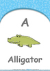 All About Me - My Name : Letter A : Alligator - Nursery (2 years old)