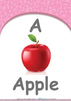 All About Me - My Name : Letter A : Apple - Pre-Nursery (1 year old)