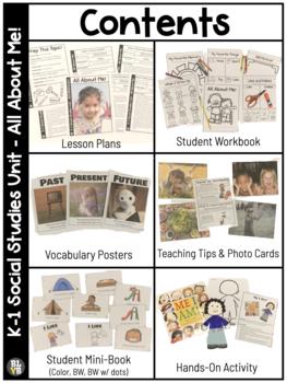 All About Me! NO PREP Kindergarten Social Studies Mini-Unit