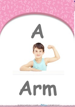 All About Me - Names : Letter A : Arm - Pre-Nursery (1 year old)