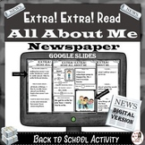 All About Me Newspaper: GOOGLE SLIDES