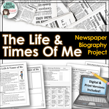 Back to School / Beginning of the Year Newspaper Biography