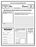 All About Me Newspaper Template